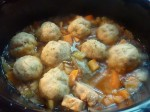 Quorn Stew with herby dumplings