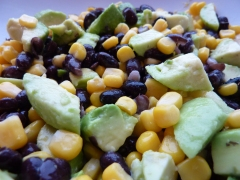 Avocado, Black Bean & Sweetcorn salad