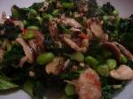 Kale, Mushroom & Cashew nut stir-fry