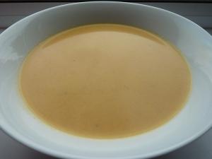 Roasted carrot, ginger & coconut milk soup