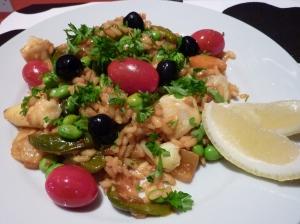 multi-vegetable paella