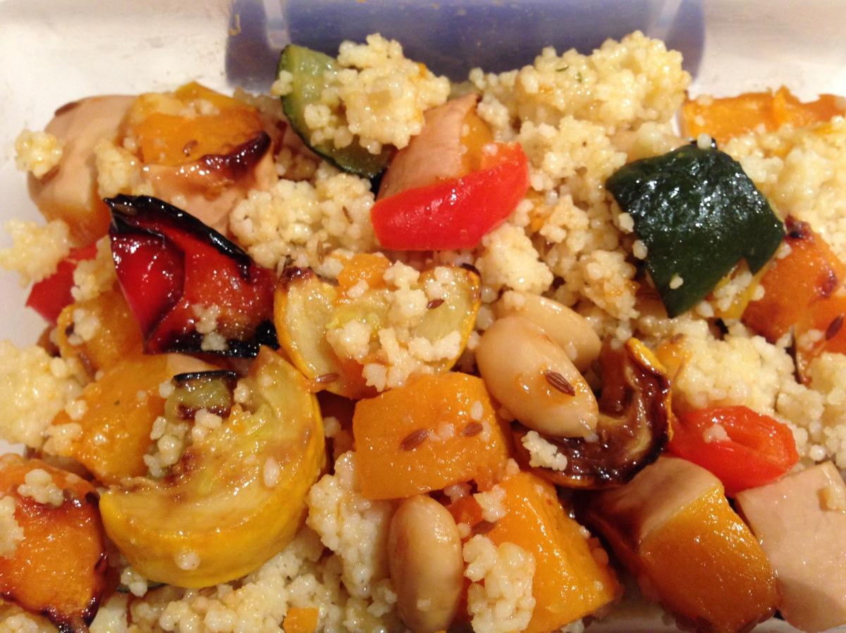 Roasted veg & couscoussalad