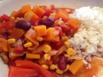 Butternut Squash Chilli (slow cooker)